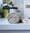 Diamond Hammam Towel & Hand made Olive Oil  Hammam Soap set