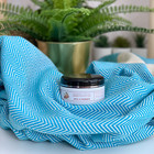 Chevron Hammam Towel & Hand made Olive Oil  Hammam Soap set