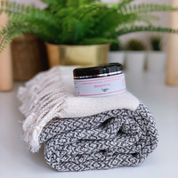 Crystal Hammam Towel & Hand made Olive Oil Hammam Soap set