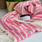 Afrodite Hammam Towel & Hand made Olive Oil  Hammam Soap set