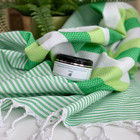 Beach Hammam Towel & Hand made Olive Oil  Hammam Soap set