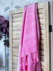 Tie Dye Bamboo Hammam Towel Rose Pink