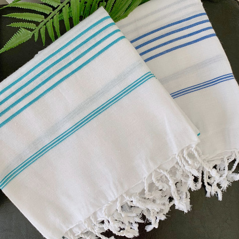 Sultan Hammam Towel Set 2 pcs White
