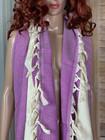 Chevron Hammam Towel Purple