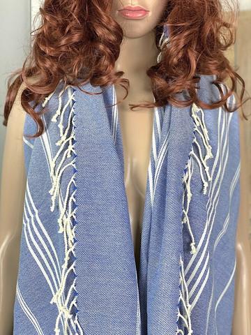 Sultan Slim Hammam Towel Royal Blue