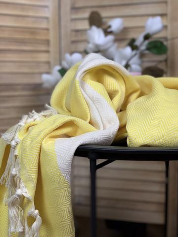 Chevron Hamam-pyyhe Keltainen