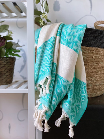 Diamond Hammam Towel Mint