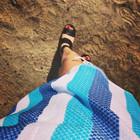 Beach Hamam Handduk Turkos