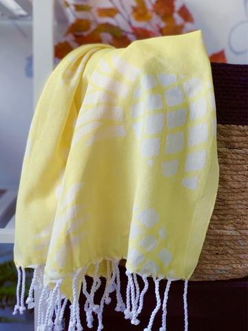 Jacquard Hammam Towel Pineapple Yellow