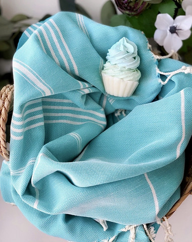 Sultan Slim Hamam Handduk & Cup Cake Tvål Paket