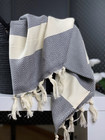 Hand/Face Hammam Towel Chevron Grey