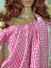 Jacquard Hamam Handduk Greek Candy Pink