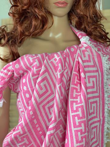 Jakardi Hamam-pyyhe Greek Candy Pink