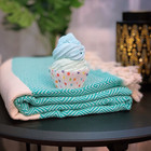 Diamond Hammam Towel &  Natural Cupcake Soap Set