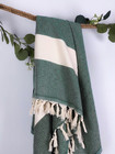 Diamond Hammam Towel Forest Green