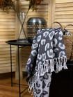 Jacquard Hammam Towel Leopard Black
