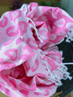 Jacquard Hammam Towel Leopard Candy Pink