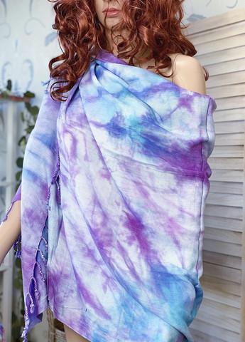 Batiikki Bambu Hamam-pyyhe Aqua-Violetti