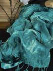 Tie Dye Bamboo Hammam Towel Jade Green