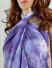 Tie Dye Bamboo Hammam Towel Lilac