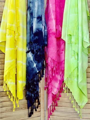 Hamam-Pyyhepaketti 4 kpl Batiikki Bambu Valitse Värit Vapaasti