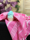 Sultan Hammam Hand Towel &  Natural Cupcake Soap Set
