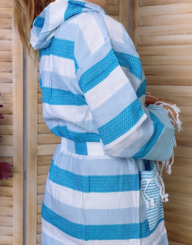Hammam Bathrobe Beach Baby Blue S