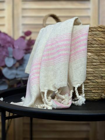 Hand/Face Linen Hand-loomed  Hammam Towel Rosa