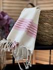 Hand/Face Linen Hand-loomed Hammam Towel Fuchsia