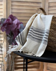 Hand/Face Linen Hand-loomed Hammam Towel Black