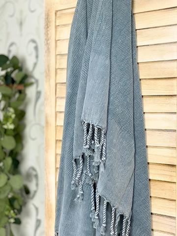 Stonewashed BASIC Hammam Towel Grey