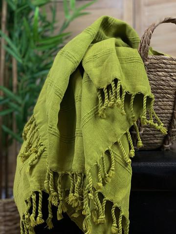 Stonewashed Stripe Hamam Handduk Lime