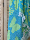Jacquard Hammam Towel Butterfly Turquoise-Pistachio