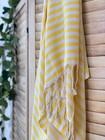 Zebra Slim Hammam Towel Yellow