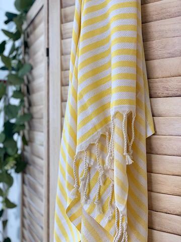 Zebra Slim Hamam Handduk Gul