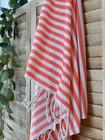 Zebra Slim Hammam Towel Coral