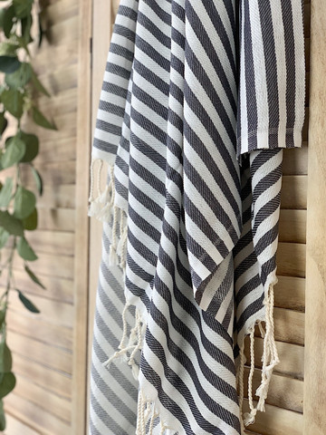 Zebra Slim Hammam Towel Anthracite