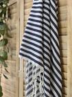 Zebra Slim Hammam Towel Navy