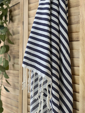 Zebra Slim Hamam Handduk Navy