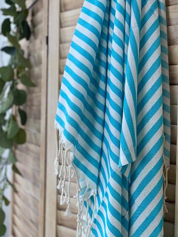 Zebra Slim Hammam Towel Tuquoise