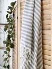 Zebra Slim Hammam Towel Grey