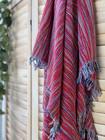 Ponpon Hammam Towel Red