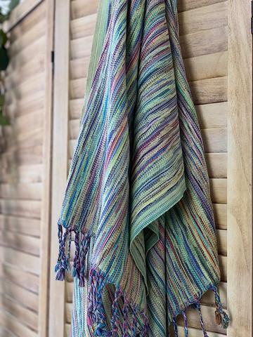 Ponpon Hammam Towel Lime