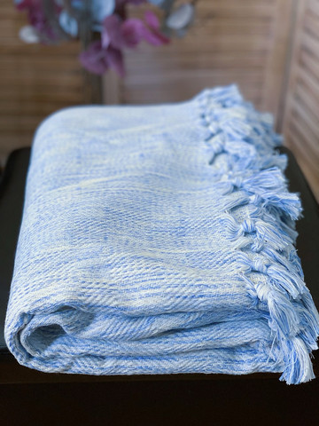 Hand-loomed Blanket Baby Blue