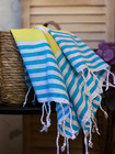 Hand/Face Hammam Towel Surf Turquoise-Yellow