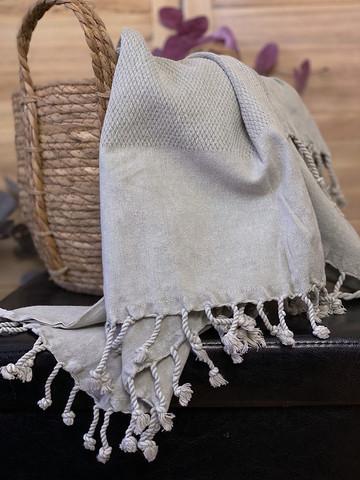 Kivipesty BASIC Hamam-pyyhe Vaaleanharmaa