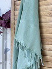 Stonewashed BASIC Hamam Handduk Mint