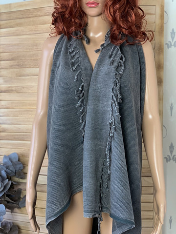 Stonewashed BASIC Hammam Towel Anthracite