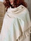 LINNE Stripe Handvävda Hamam Handduk Aqua