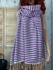 Zebra Slim Hammam Towel Purple